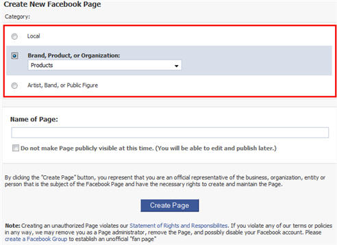 Creating a Facebook Fangpage