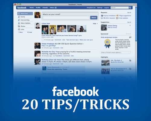 facebook tips tricks 20 Facebook Tips/Tricks You Might Not Know